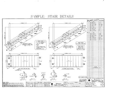 technische zeichnung treppe stair detail