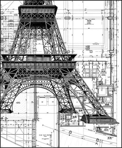eiffel tower floor plan construction details eiffel tower blueprints floor