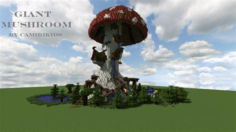 giant fantasy mushroom minecraft building