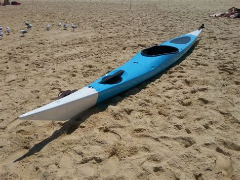 sectional kayak switchblade sectional sea kayak assembled and ready to go