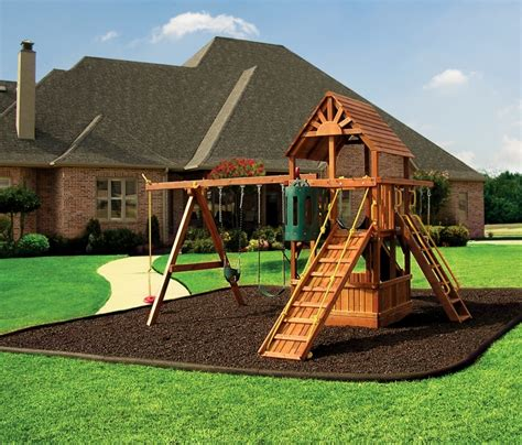 Landscape Timbers Playground Brown Rubber Mulch On Playground Church Nursery