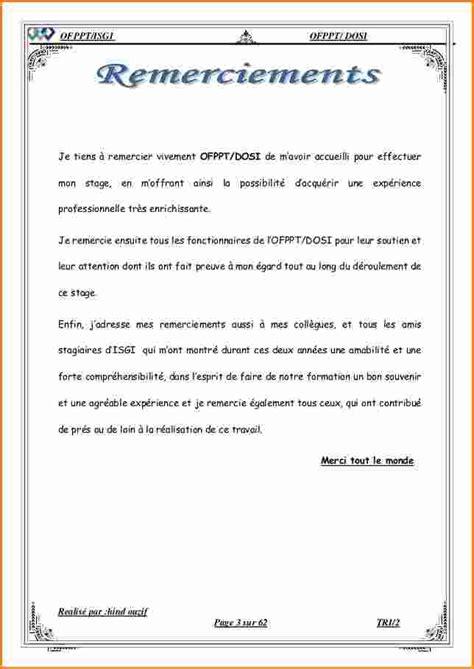 Exemple Lettre De Remerciement Rapport De Stage 5 Exemple De Remerciement Rapport De Stage Exemple Lettres