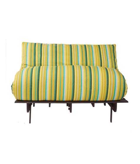 double sofa bed mattress arra double futon sofa cum bed with mattress green lines