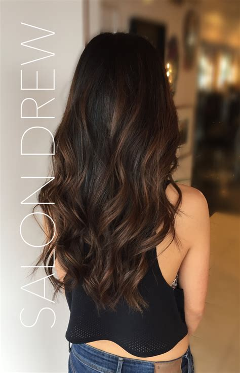 hairstyle ideas brunette balayage by salon drew balayaged hair balayaged