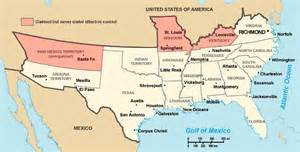 Map Of Southern United States by South Secession Map Southern States Secede Civil War Rights