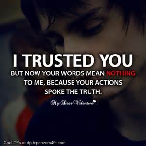 Sad love trust quote cool display pictures