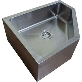stainless steel mop sink sinks washfountains janitorial sinks imc fs l