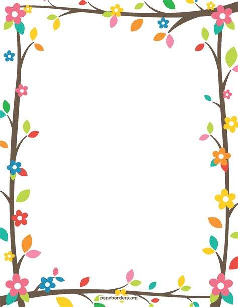 printable paper with flower border resultado de imagen para free printable border designs for