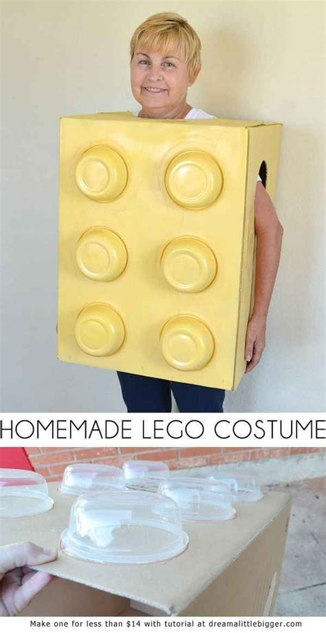 cheap  easy  minute halloween costumes lego