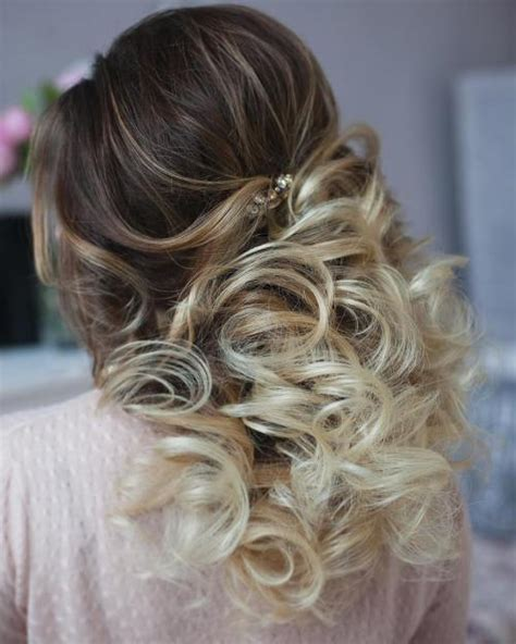 Wedding Hairstyles Curly Hair Half Up by Half Up Half Wedding Hairstyles 50 Stylish Ideas