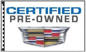 Cadillac Pre Owned Certified 2 5 X 3 5 Cadillac Certified Pre Owned Dealer Flag