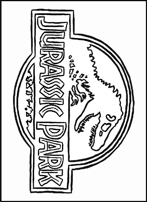 jurassic world coloring pages online gambar logo clipart jurassic world pencil color pin 10