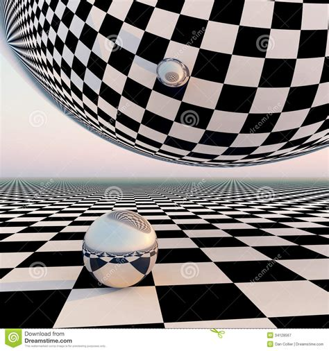 grid pattern concept checkered surreal horizon stock illustration illustration