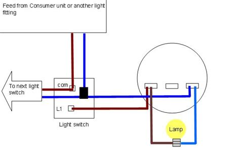 How To Wire A Ceiling Light And Switch Ceiling Wiring Diagrams Harmonised Colours Light Fitting