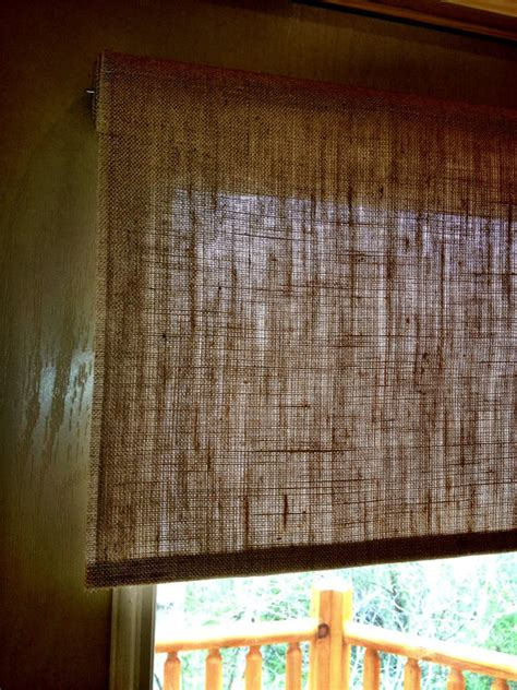 burlap window blinds burlap roller shade tight weave custom sizing available