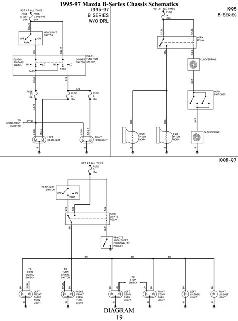 96 mazda b2300 fuse box diagram get free image about