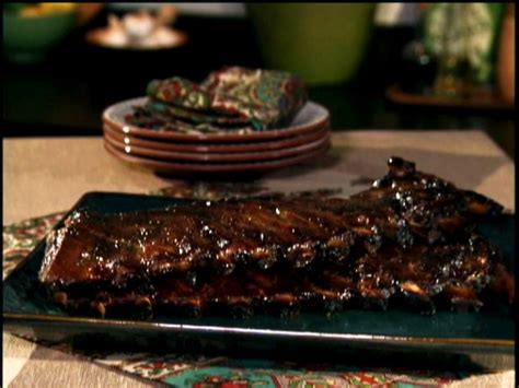 food network country style ribs honey mustard glazed ribs in oven and broiler recipe