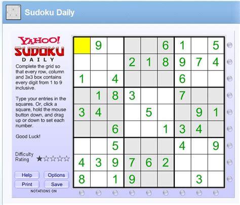 Gamis Daily play free yahoo sudoku daily