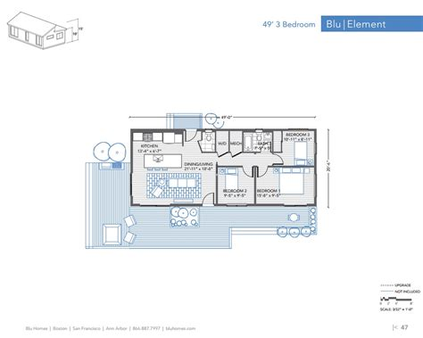 Three Bedroom House Blu Homes Element 3 Br 1 5 Ba Floor Plan Modernprefabs