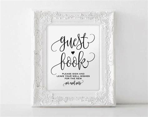 diy wedding guest book template sletemplatess