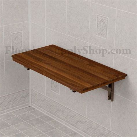 wall mounted fold down bench teak wood wall mount fold down bench albuquerque new