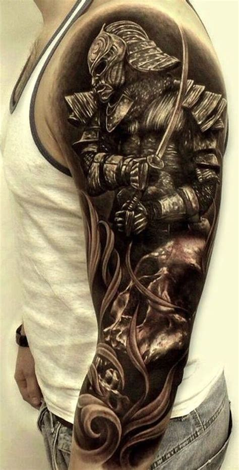 samurai tattoo black and grey 20 samurai tattoos designs and ideas
