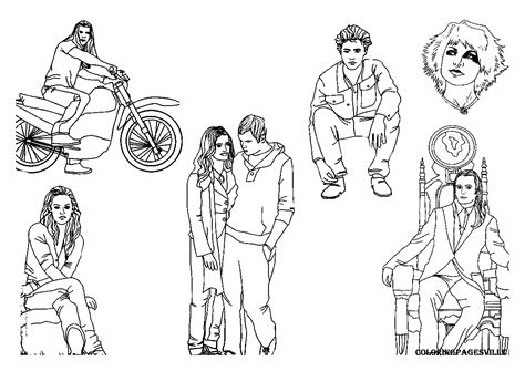 Free Twilight Coloriage Coloring Pages Twilight Coloring Pages To Print