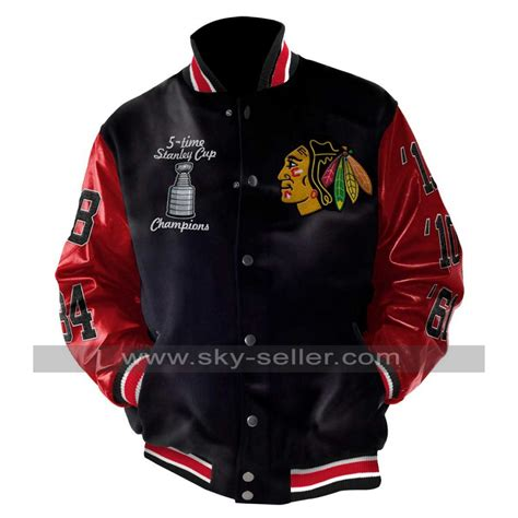 stanley chicago stanley chions blackhawks chicago leather jacket