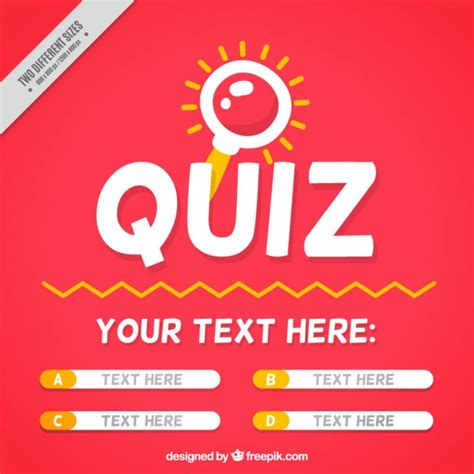 Image Quiz by Quiz Background With Question And Four Options Vector