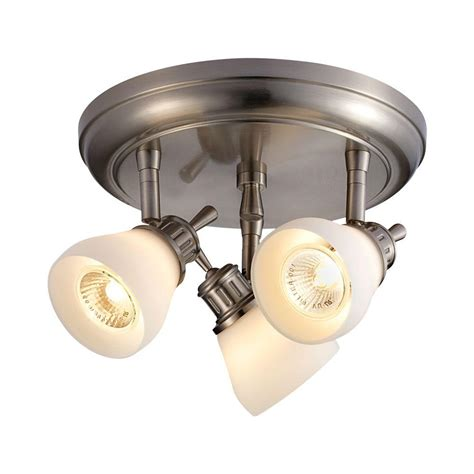 Satin Nickel Ceiling Light Fixtures Hton Bay 3 Light Satin Nickel Directional Ceiling Lighting Fixture 566399 New Ebay
