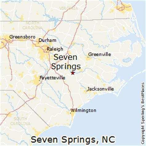 springs carolina map best places to live in seven springs carolina