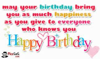 Happy birthday wish you quote picture for happy birthday greetings