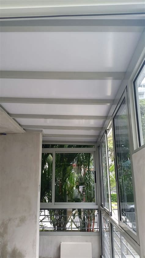 swing for balcony enclosed balcony with aluminium composite panel sliding