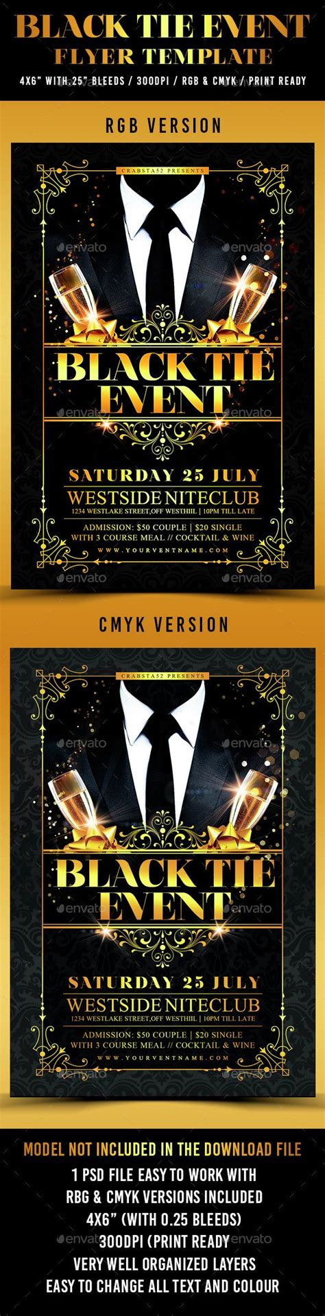 Black Tie Event Flyer
