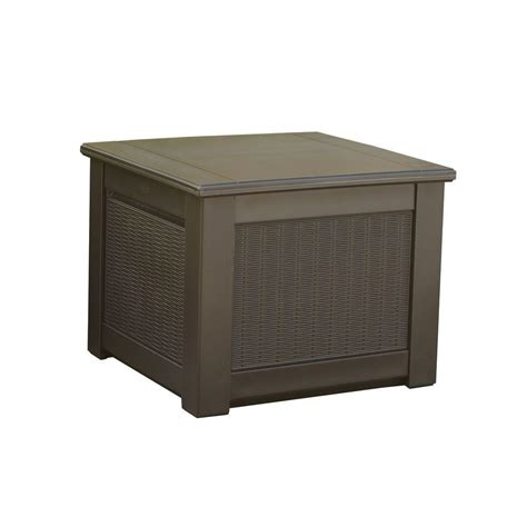 rubbermaid rattan 56 gal resin storage cube deck box