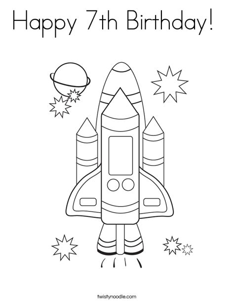 happy birthday coloring pages games happy birthday space shuttle pics about space