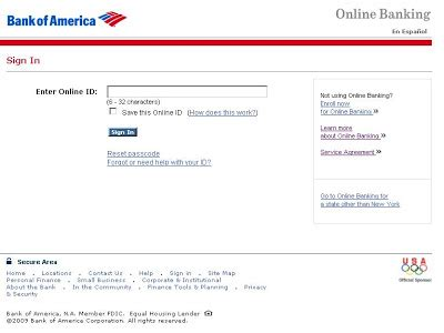 bank of america sign in bank of america banking sign in id html