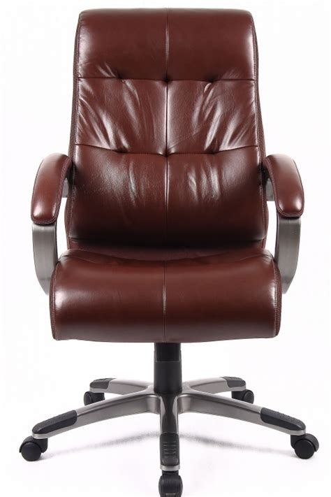 Leather Office Furniture Catania Brown Leather Office Chair