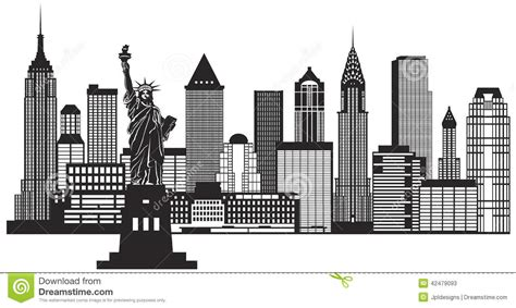 skyscraper clipart new york building pencil and in color
