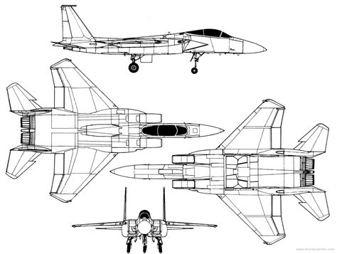 F Drawing Design by F 15 Blueprints Vehicle Blueprints