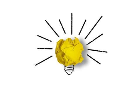 How To Make A Paper Light Bulb - light bulb made from a yellow paper photo free