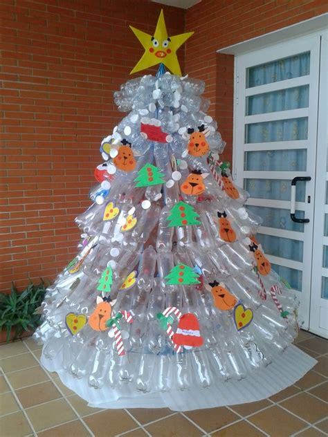 christmas decorations made out of plastic bottles