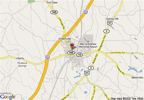 where is greenville alabama on the map map of days inn greenville greenville