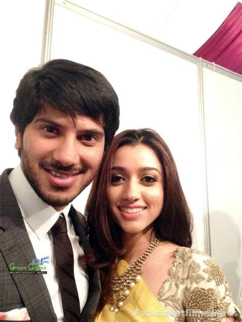 Dulquer Salmaan With his Wife at Asianet film awards 2014 ...
