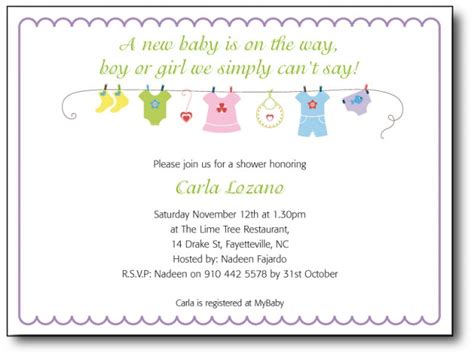 baby shower invitation wording template best template collection