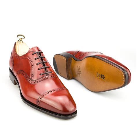 cordovan oxford shoes semi brogue oxfords in cordovan rubi carmina