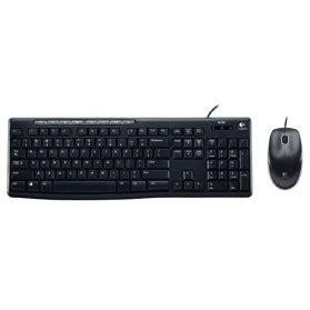 Keyboard Eksternal Logitech logitech keyboard and mouse wireless combo mk240 black