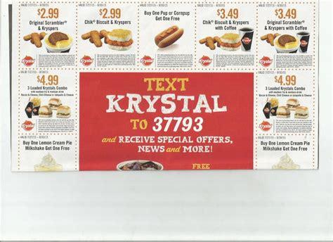 15 Coupons Krystal Chik Krysper Coffee Loaded Cheese Chili