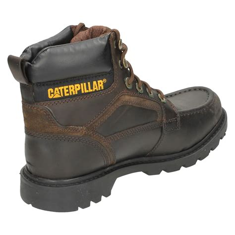 Caterpilar Leather mens caterpillar leather lace up work boot transpose ebay