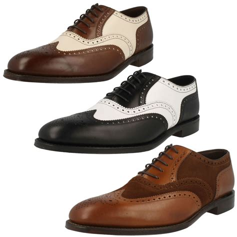 two tone mens shoes mens loake two tone brogue lace up shoes sloane ebay
